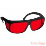 Lézer biztonsági szemüveg AL3 kék/zöld lézerekhez (180-540 nm) megfigyeléshez - #38 fekete/piros üv.