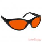 Lézer biztonsági szemüveg ARG zöld/kék lézerekhez (180-532 nm) modell #35, fekete keret piros üveg