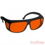 Lézer biztonsági szemüveg ARG zöld/kék lézerekhez (180-532 nm) m. #38, fek. ker. pir. üveg, szemüv-nek