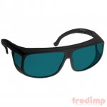 Lézer biztonsági szemüveg DI4 lézerekhez (180-395 és 625-850 nm), #38 fekete keret s.türkiz üveg