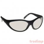Lézer biztonsági szemüveg CO2 és UV lézerekhez (10600 és 190-398 nm) mod. EC2#35, fekete keret víztiszta üveg