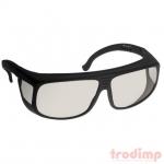 Lézer biztonsági szemüveg CO2 és UV lézerekhez (10600 és 190-398 nm) EC2#38, fek. ker víztiszta üv szemüv-nek