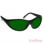 Lézer biztonsági szemüveg IRD5 lézerekhez (800-1790 nm), #35 fekete keret zöld üveg