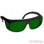 Lézer biztonsági szemüveg IRD5 lézerekhez (800-1790 nm), #38 fekete keret zöld üveg