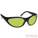 Lézer biztonsági szemüveg YAG lézerekhez (190-400, 808-1070 nm),#35YG3 fekete keret zöld üveg
