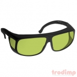 Lézer biztonsági szemüveg YAG lézerekhez (190-400, 808-1070 nm),#38YG3 fekete keret zöld üveg szemüvegeseknek